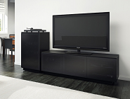 BDI Mirage media cabinet, satin black
