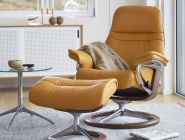 Stressless Sunrise Recliner, mustard