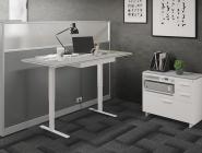 8 BDI Centro Sit:Stand Desk White fnl